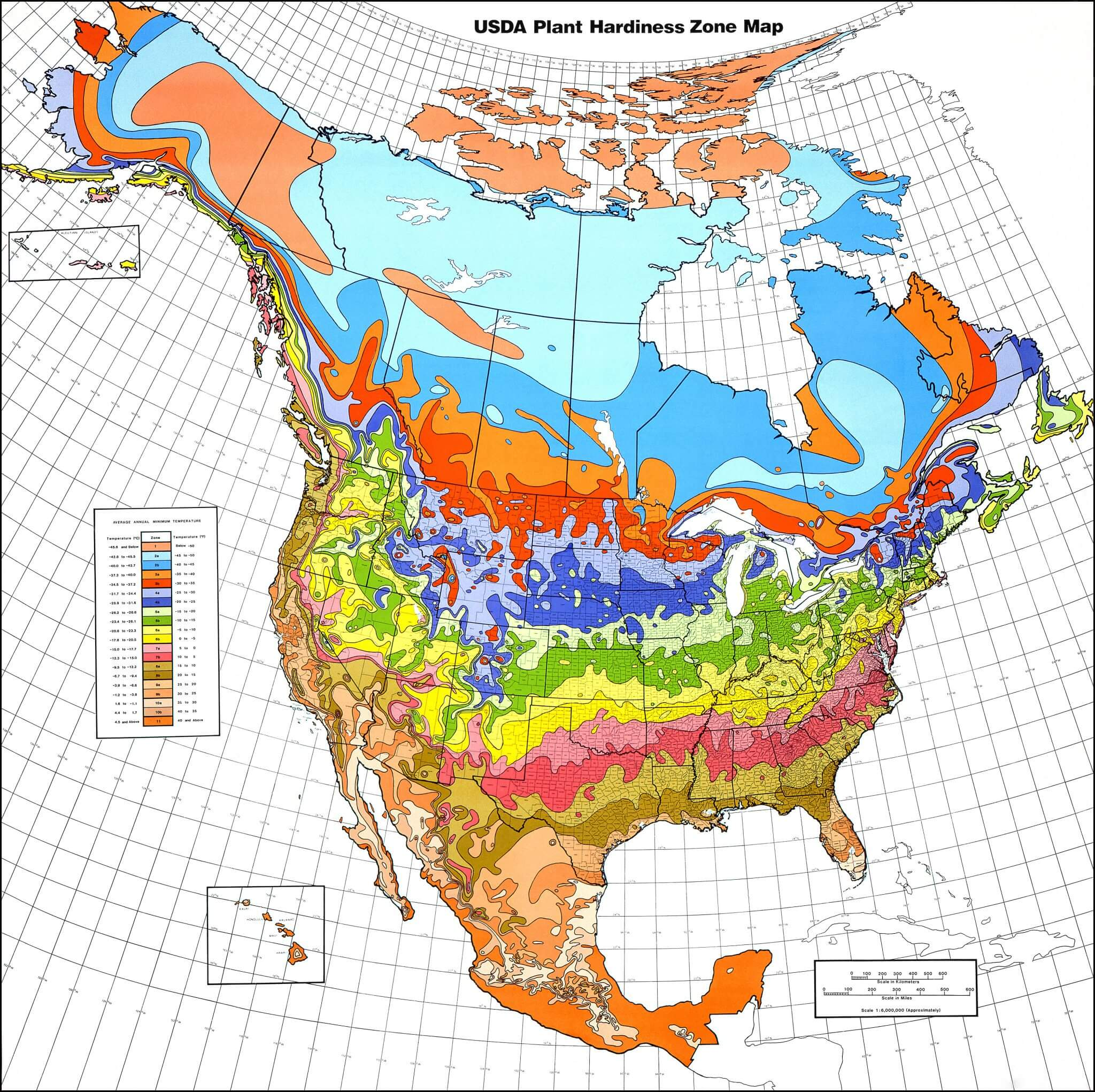 US Department Of AgricultureUSDA Hardiness Zones Eat The Planet - Us agriculture map